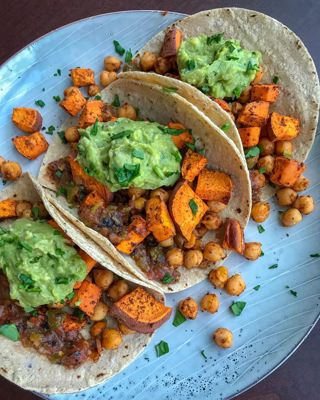 Smokey Sweet Potato Chickpea Tacos