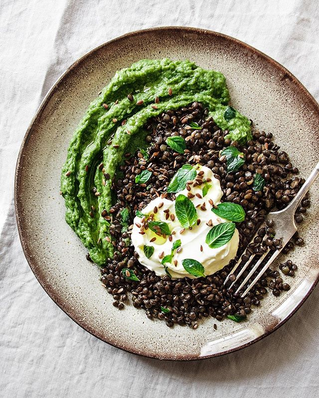 Spinach Mashed Potatoes With Beluga Lentils By Scusatema Quick Easy Recipe The Feedfeed