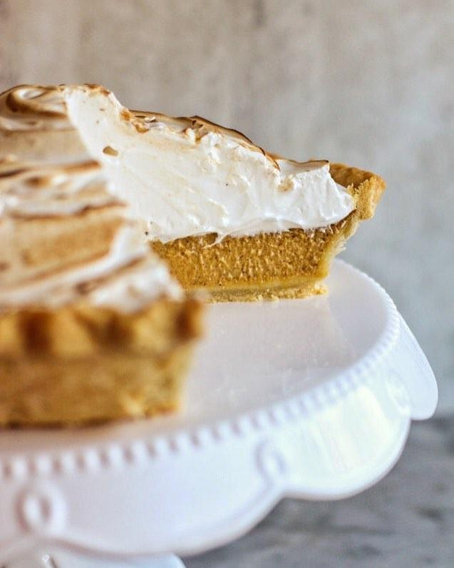 Meringue Topped Pumpkin Pie