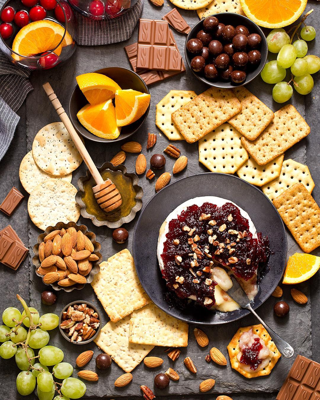 Cranberry Baked Brie Board