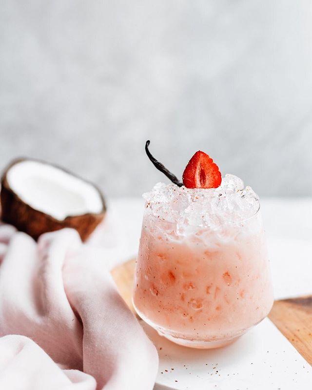 Cinnamon Strawberry Tequila Colada