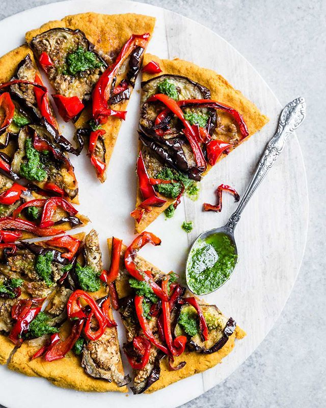Sweet Potato Crust Vegetable Pizza