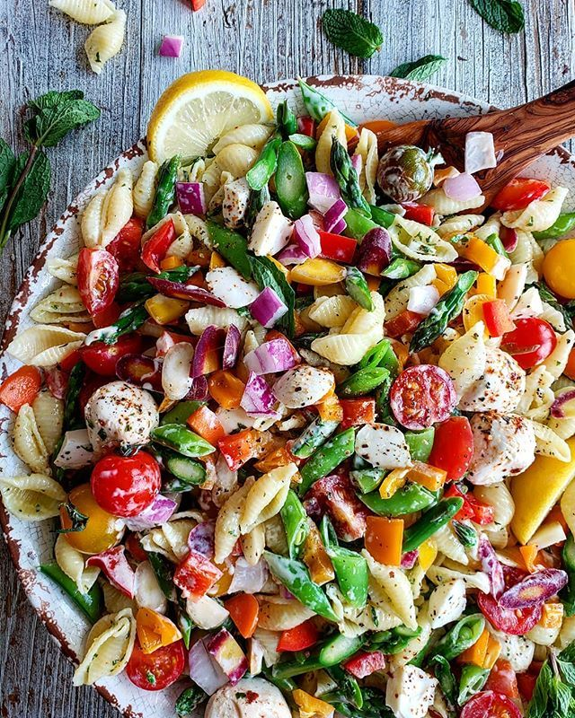 Colorful Cold Summer Vegetable Pasta Salad Recipe By Lorinda The
