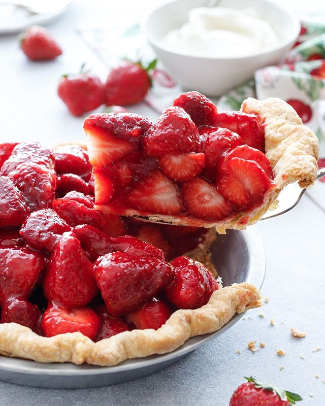 Strawberry & Rose Pie
