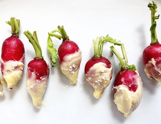 Butter Dipped Radishes with Sea Salt
