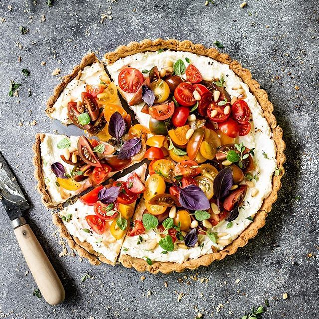 Heirloom Tomato Ricotta Cheese Tart