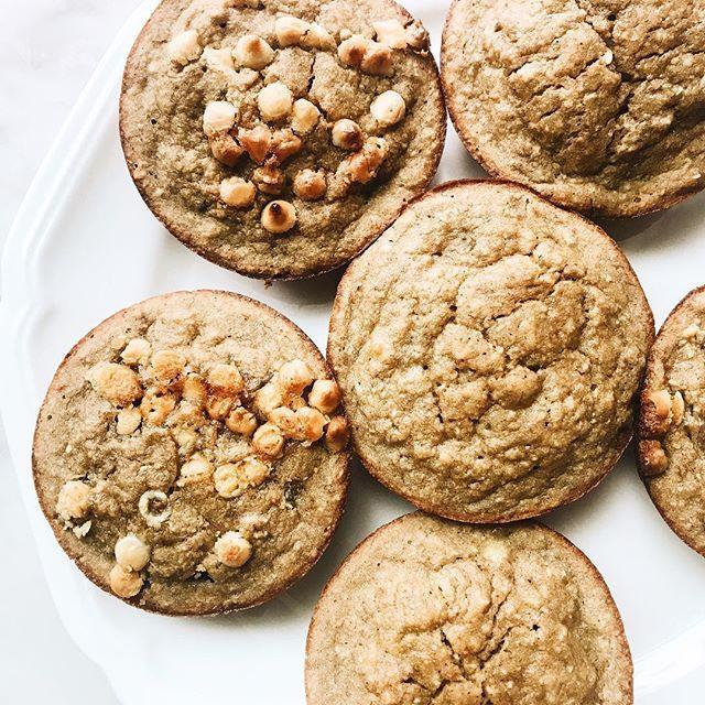 Oat Flour Banana Bread Muffins