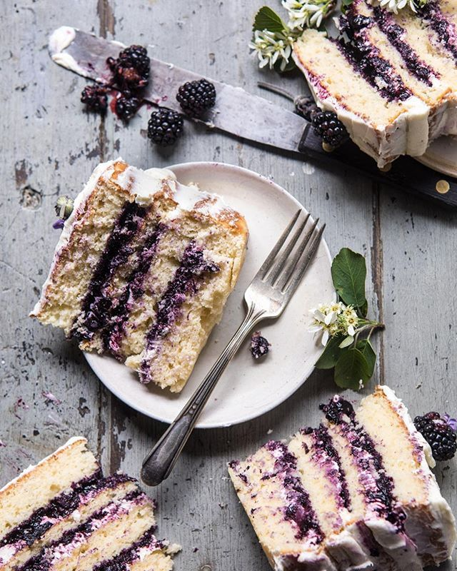 Blackberry Lavender Layer Cake With White Chocolate Buttercream Recipe By Tieghan The Feedfeed