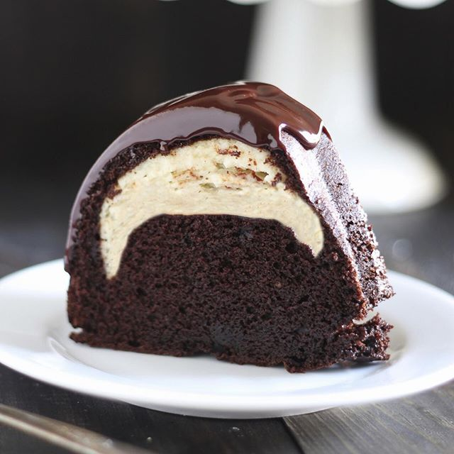 Cake Mix Chocolate Cream Cheese Filled Bundt Cake