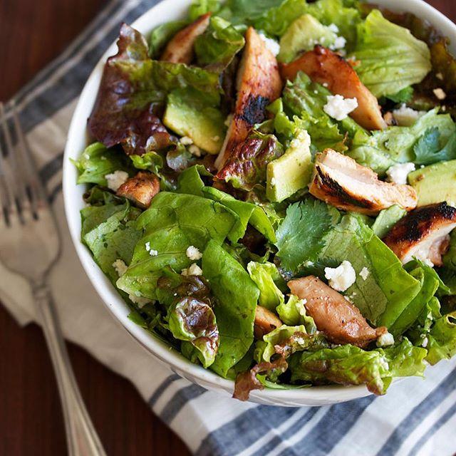 Chipotle Barbecue Chicken Salad With Cilantro Lime Vinaigrette