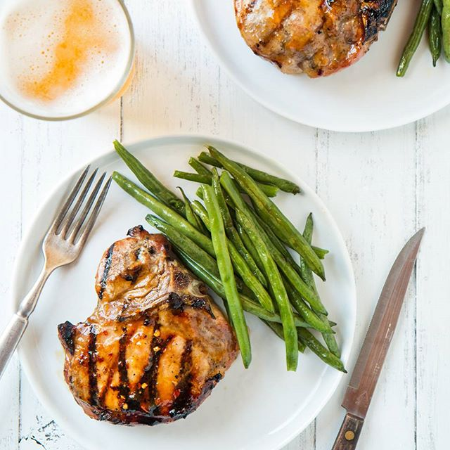 Spicy Ginger And Apricot Glazed Grilled Pork Chops