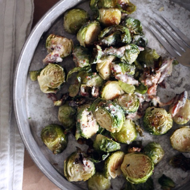 Tahini & Mustard Brussels Sprouts
