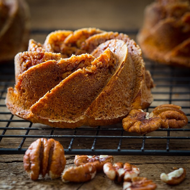Mini Sweet Potato & Praline Bundt Cakes