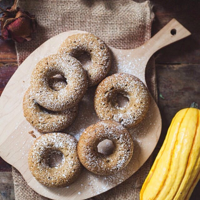 Delicata Squash Donuts With Pumpkin Pie Spice
