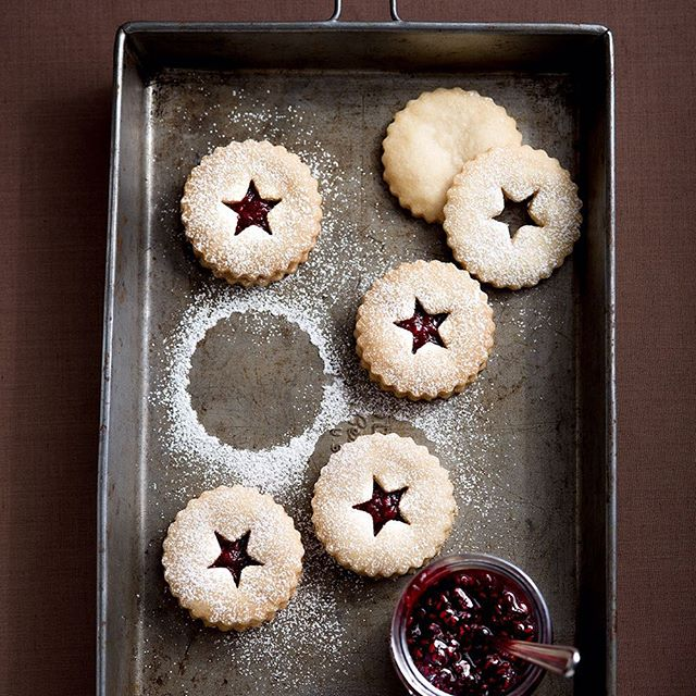 Ginger And Cardamom Linzer Cookies With Raspberry Jam Recipe The