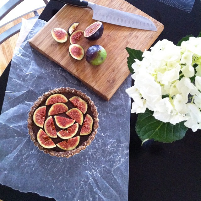 Chocolate Hazelnut And Fig Mini Tart