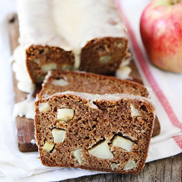 Apple Bread with Brown Butter Glaze!