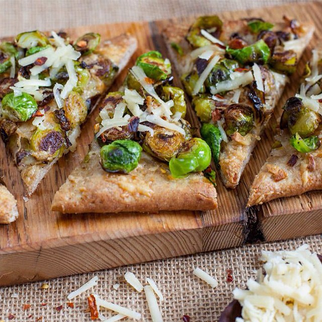 Brussels Sprouts Pizza With Caramelized Onions