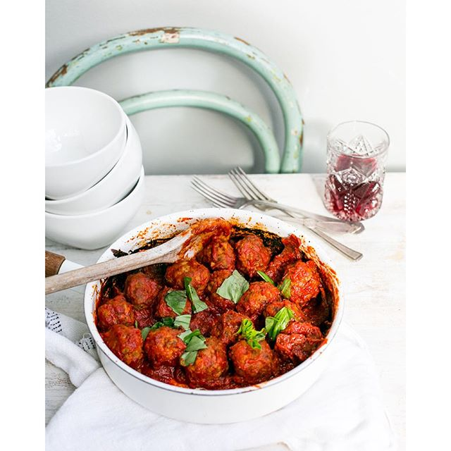 || Meat Balls My Way || This Delish dish will impress with its robust Shiraz and chorizo sauce!