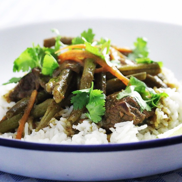 Green Curry With Slow Cooked Beef
