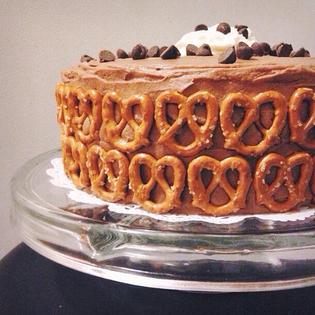 Chocolate-peanut Butter Pretzel Cake