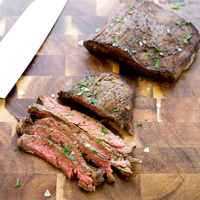 Skirt Steak Marinated In Espresso, Soy Sauce And Worcestershire Sauce