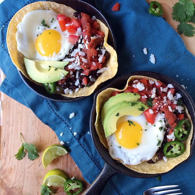 Huevos Rancheros: Cojita Cheese, Black Bean & Avocado