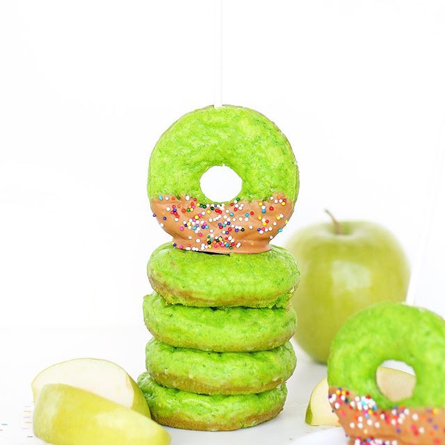 Donuts are a healthy breakfast when they're meant to look like apples, right? Finishing off the last…