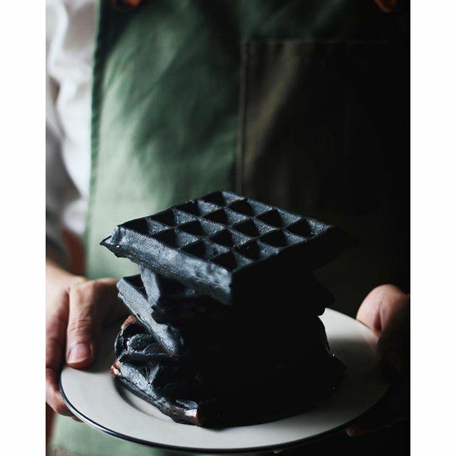 Black Charcoal Waffles