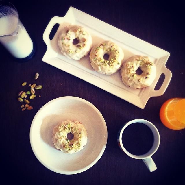 Brown Butter & Pistachio Doughnuts