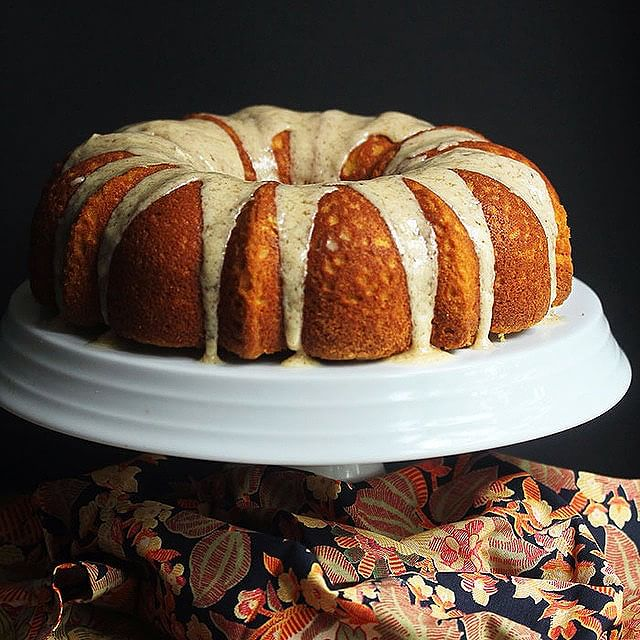 Sour Cream Pumpkin Pound Cake With Brown Butter Glaze