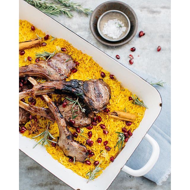 Spiced Pilaf With Grilled Lamb