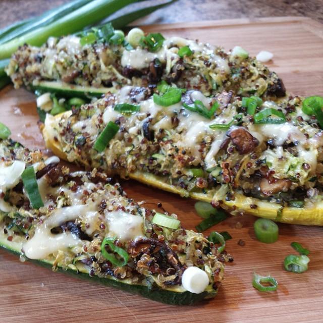 Zucchini And Yellow Squash Boats