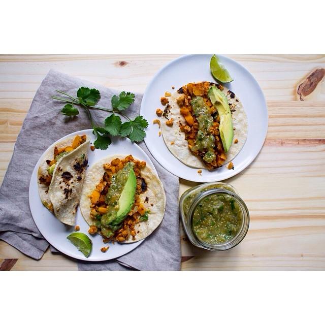 Butternut Squash & Tempeh Tacos