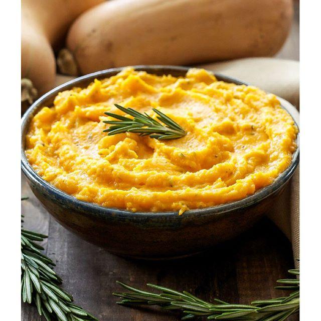 Goat Cheese And Rosemary Butternut Squash Mash • Danae