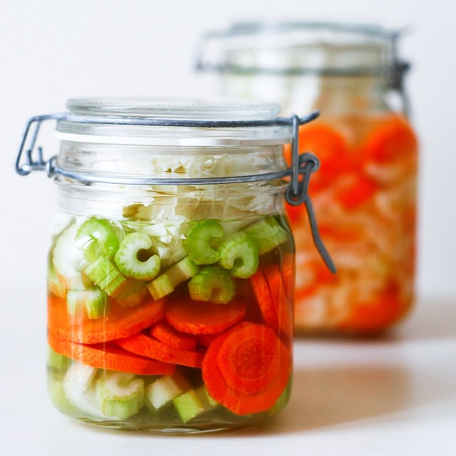 Lacto Fermented Carrot, Celery And Cabbage