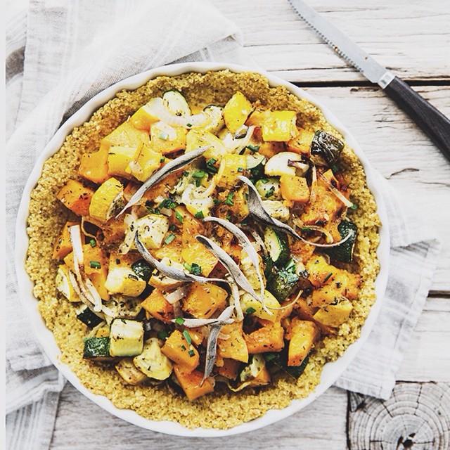 savory pumpkin pie + quinoa crust .... let's discuss this 2 ingredient quinoa crust, how is this not…