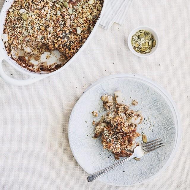 Savory Pear & Sage Baked Oatmeal