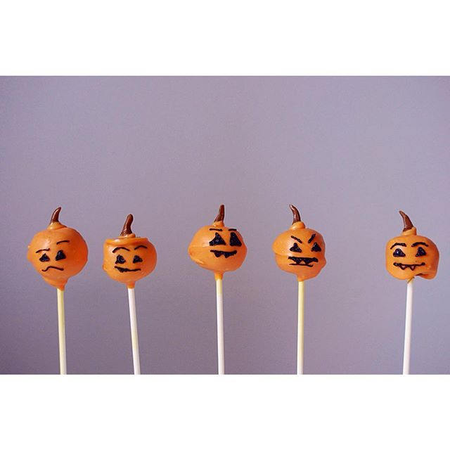 Pumpkin Cake Pops Made From Cake Scraps