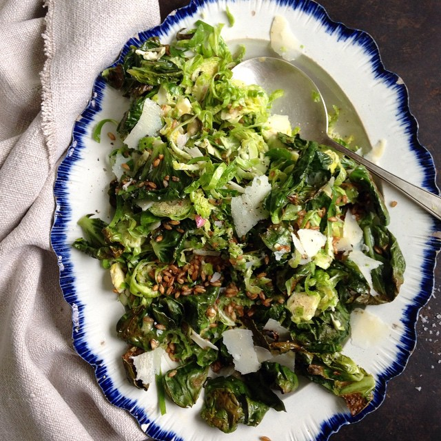 A whole stalk of Brussels sprouts makes an ample amount for a crowd. The Brussels sprouts are…