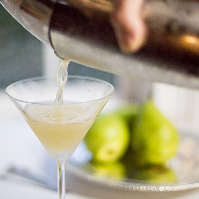 Pear Nectar Vodka Martini