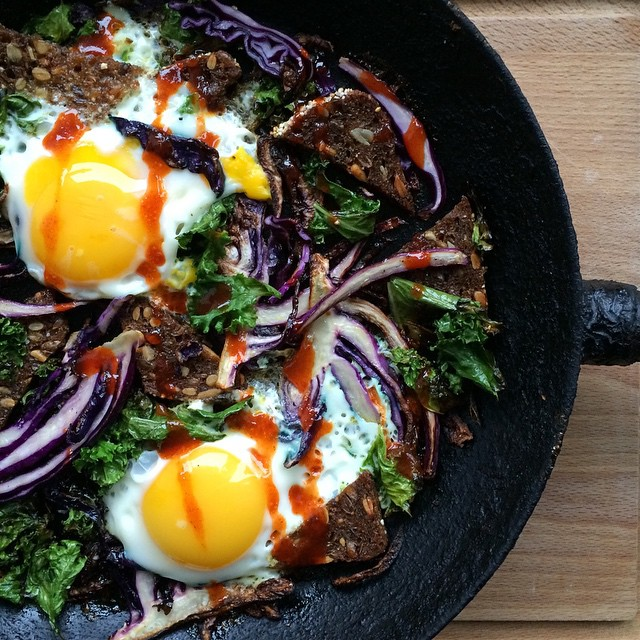 Kale And Red Cabbage Eggs