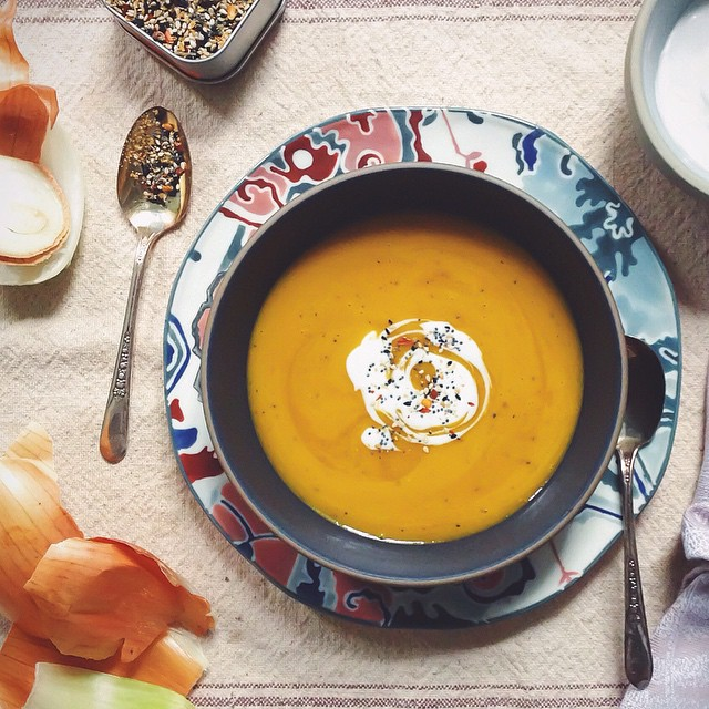 Japanese 7-spice Kabocha Soup With Coconut & Ginger