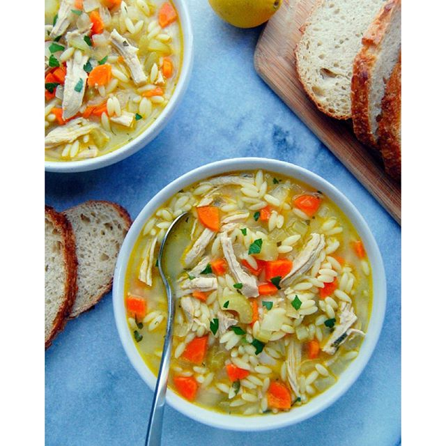 Leftover Turkey And Orzo Soup