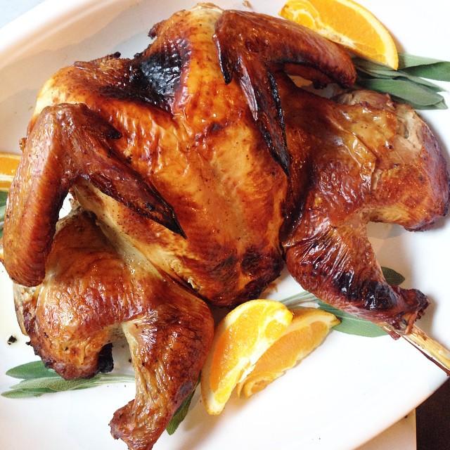 Butterflied, Roasted Garlic Bourbon Turkey