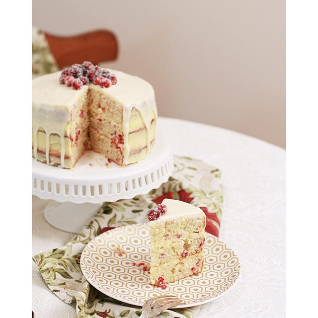 Cranberry Cream Cheese Cake