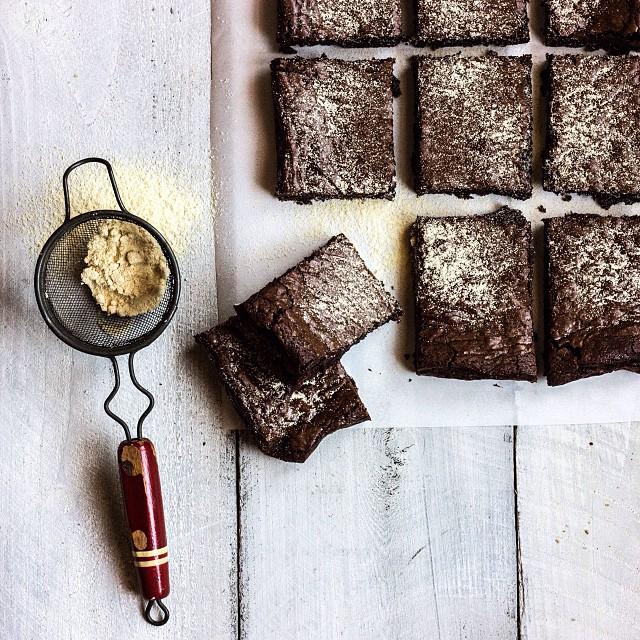 Malted Bittersweet Brownies