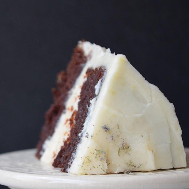 Chocolaty Chocolate Cake & Lemon Buttercream Frosting