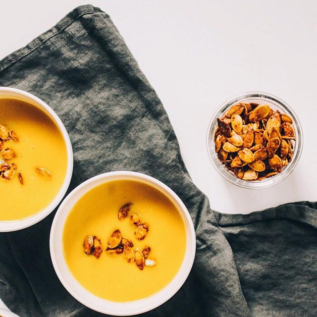 Kabocha Bisque With Habanero Pumpkin Seeds