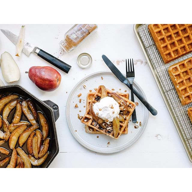 Cinnamon Pecan Waffles • feedfeed, by Julie Resnick